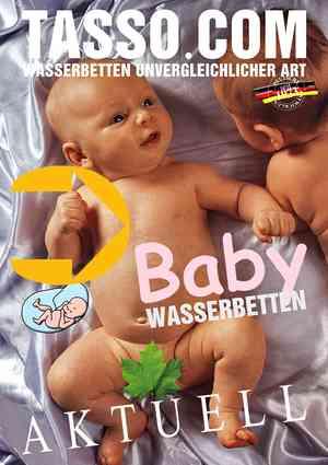 Baby Wasserbett Broschüre